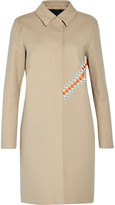 MSGM Appliquéd cotton-blend felt coat