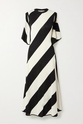 Stella McCartney + Net Sustain Striped Stretch-knit Midi Dress - Black