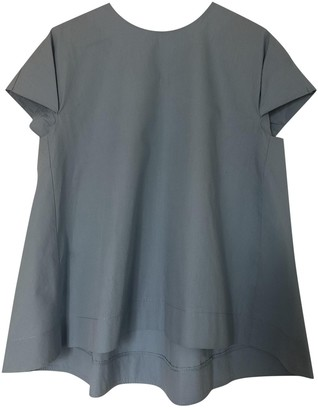 Vicolo Turquoise Cotton Top for Women
