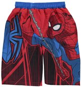 "Spiderman Little Boys' Toddler ""Webbed Static"" Swim Trunks"