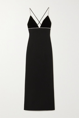 Miu Miu Crystal-embellished Cady Gown - Black