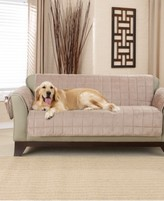 Sure Fit Deep Pile Polyester Velvet with Non-Skid Paw Print Pet Back Loveseat Furniture Cover