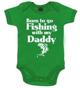 Dirty Fingers, Born to go Fishing with my Daddy, Baby Girl, Bodysuit, 0-3m