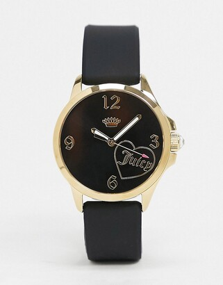 Juicy Couture Black Watch with Crown Logo Detail