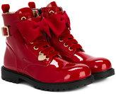MonnaLisa bow detail boots