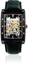 Pierre Lannier 306C433 Men's Watch Analogue Black Dial - Black Leather Strap