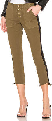Pam & Gela Step Hem Pant With Double Stripe