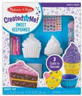 Melissa & Doug ; Decorate-Your-Own Sweets Set Craft Kit: 2 Treasures Boxes and a Cake Bank