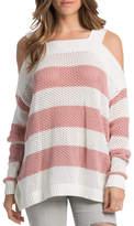 Elan International Striped Salmon Sweater