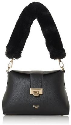 Diggie Fluffy Trim Strap Shoulder Bag