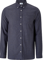 Libertine-libertine Long Hunter Check Flannel Shirt, Asphalt Blue