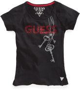 GUESS T-Shirt, Girls Raglan Logo Tee