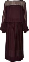 Tamara Mellon Silk-georgette midi dress