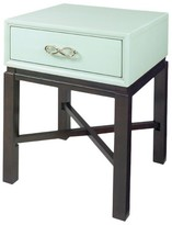 Progressive Spencer End Table Chairside- Celadon Blue, Espresso Furniture