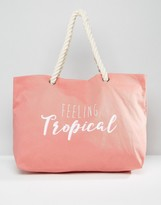 South Beach 'Feeling Tropical' Beach Bag