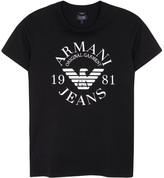 Armani Jeans Black Logo Cotton T-shirt
