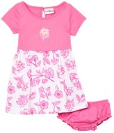 Sweet & Soft Girls' Casual Dresses Pink - Pink & White Floral Cap-Sleeve Dress & Pink Diaper Cover - Infant
