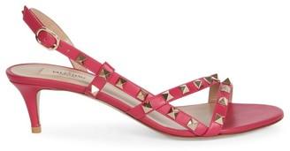 Valentino Rockstud Flair Slingback Leather Sandals