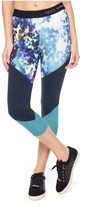 Juicy Couture Sport Floral Glow Color Blck Capri Legging