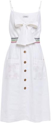 Isolda Bow-detailed Linen Dress