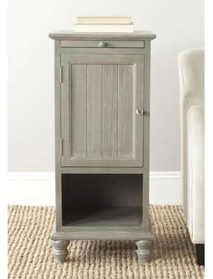 Ophelia & Co. Joanna Solid Wood End Table with Storage Color: French Grey
