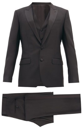 Dolce & Gabbana Martini-fit Wool-blend Three-piece Suit - Black
