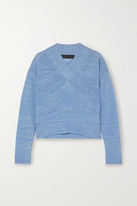 The Elder Statesman Flaco Melange Cashmere Sweater - Blue