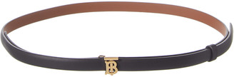 Burberry Monogram Motif Reversible & Adjustable Leather Belt