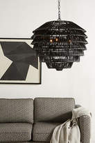 Anthropologie Tiered Rattan Pendant