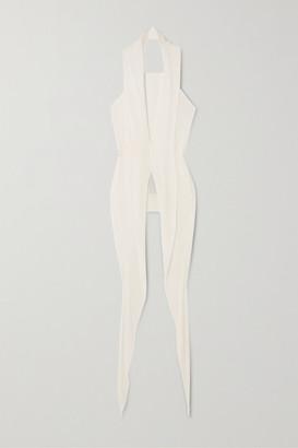 Rick Owens Wishbone Draped Jersey Halterneck Top - White