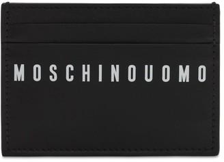 Moschino Logo Print Leather Card Holder