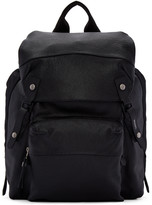 Lanvin Black Leather and Nylon Rucksack
