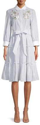 Kate Spade Striped Cotton Shirtdress