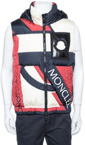 Thumbnail for your product : Moncler Tricolor Synthetic Down Filled Sleeveless Hooded Puffer Gilet S