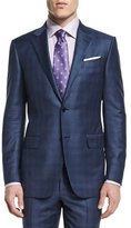 Ermenegildo Zegna Plaid Two-Piece Wool Suit, Blue