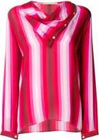 Marco De Vincenzo draped striped blouse