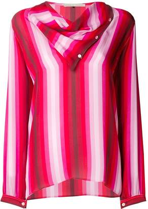 Marco De Vincenzo draped striped blouse