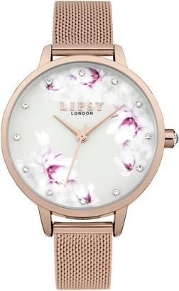 Lipsy Womens Analogue Classic Quartz Watch with Aluminium Strap LP577