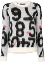 Emporio Armani number motif jumper