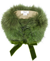 Blugirl ribbon trim fur stole