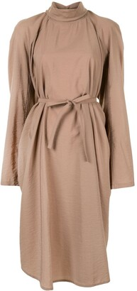 Lemaire Roll-Neck Long Sleeved Dress