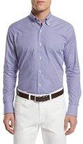 Peter Millar Check Long-Sleeve Sport Shirt, Mirage