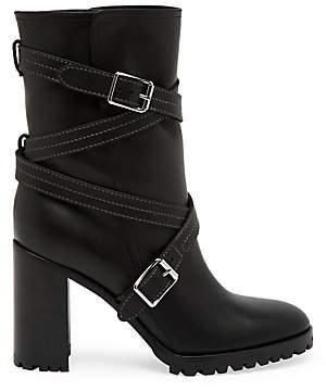 Gianvito Rossi Women's Maren Crisscross Strap Leather Mid-Calf Boots