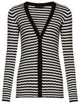 Proenza Schouler Striped V-neck silk and cashmere-blend cardigan