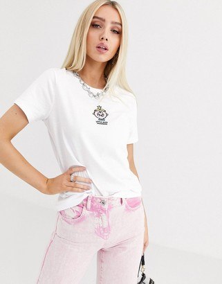 Little Miss Poetic Brands Princess embroidered tee-White