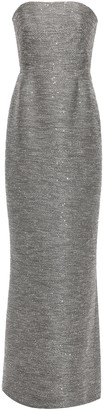Lela Rose Strapless Sequin-embellished Tweed Gown