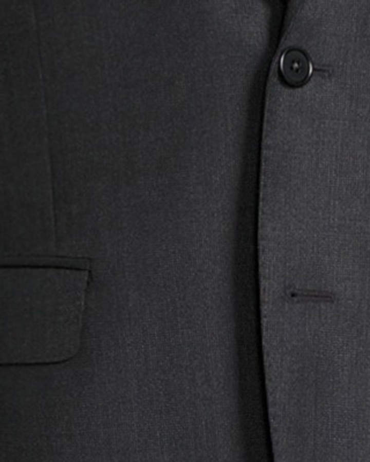 Neiman Marcus Slim-Fit Two-Piece Dotted Suit, Gray