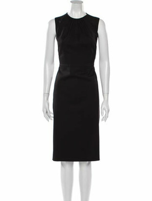 Valentino Virgin Wool Midi Length Dress Wool