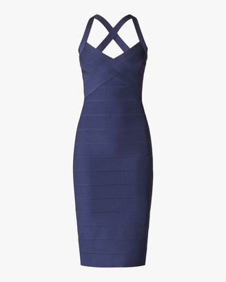 Herve Leger X Back Woven-Front Icon Dress