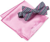 Alfani Men's Pink Bow Tie & Solid Pocket Square Set, Only at Macy's